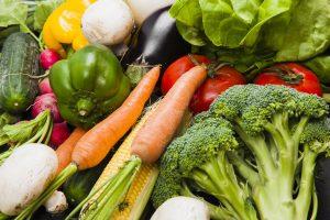 Verschillende soorten groentes bij elkaar