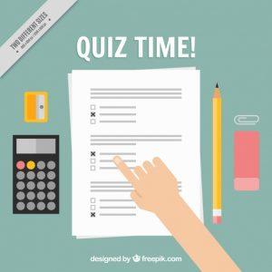 Quiz met potlood en rekenmachine